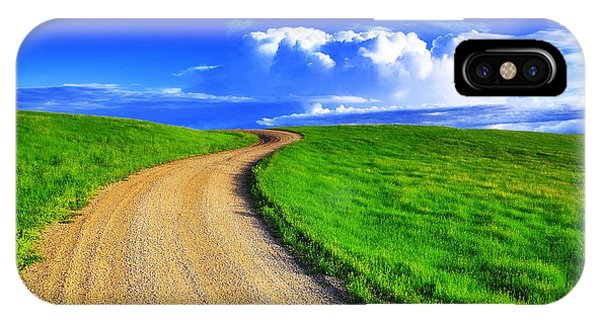 Weather iPhone Case - Road To Heaven by Kadek Susanto