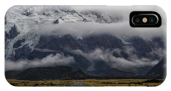 Cloud iPhone Case - Road To Mt Cook by Dragan Keca