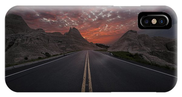 Road To Nowhere Badlands IPhone Case
