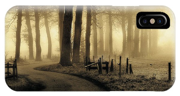 Fog iPhone Case - Road To Nowhere... by Petra Oldeman