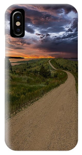 Road To Nowhere - Stormy Little Bend IPhone Case