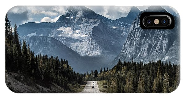 Banff iPhone Case - Road To The Great Mountain by Yanliang Tao