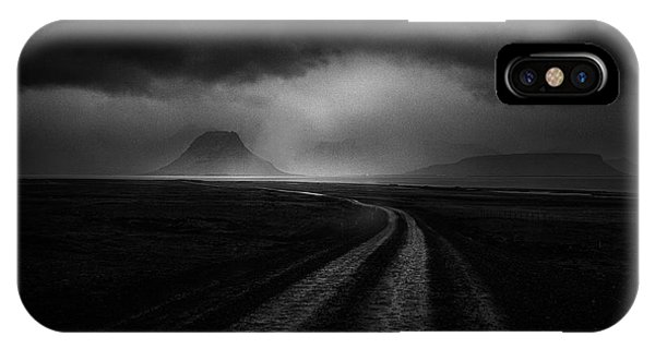 Dark Clouds iPhone Case - Road To The Stormy Land by Peter Svoboda, Mqep