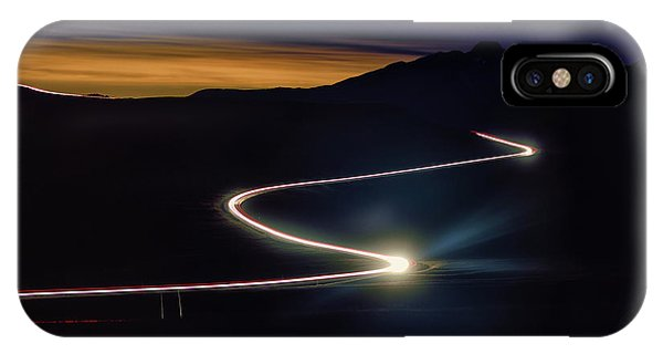 iPhone Case - Road With Headlights In Rocky Mountain by Keith Ladzinski