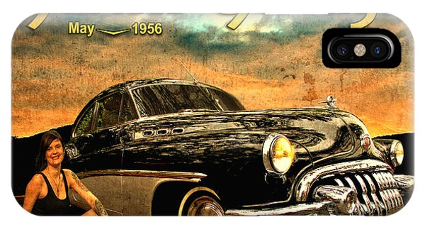 Roadmaster Betty And The Big Black Buick IPhone Case