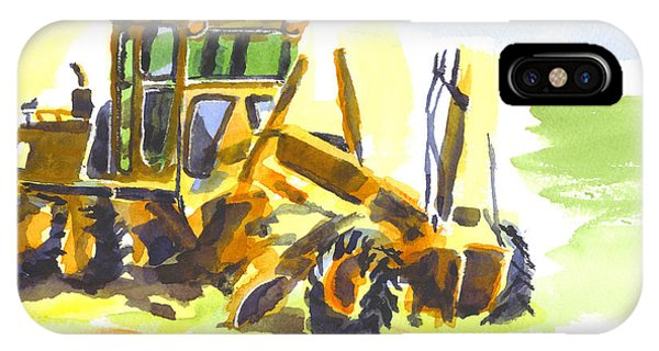 Roadmaster Tractor In Watercolor IPhone Case