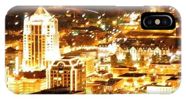 Roanoke City Lights Phone Case by Scott Ware