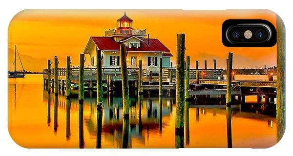 Roanoke Lighthouse Dawn IPhone Case