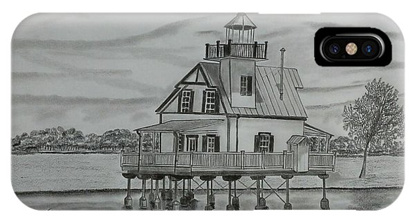 Roanoke River Lighthouse Phone Case by Tony Clark