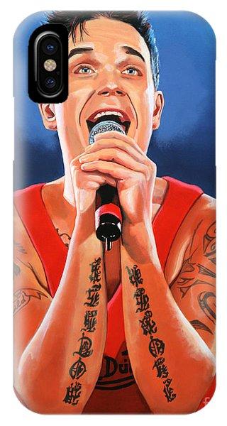 England iPhone Case - Robbie Williams Painting by Paul Meijering