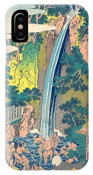 Oyama iPhone Case - Roben Waterfall At Oyama In Sagami Province by Katsushika Hokusai