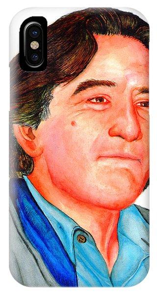 Robert De Niro iPhone Case - Robert by Alessandro Della Pietra