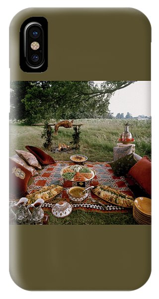 Robert Carrier's Moroccan Picnic In A Field IPhone Case