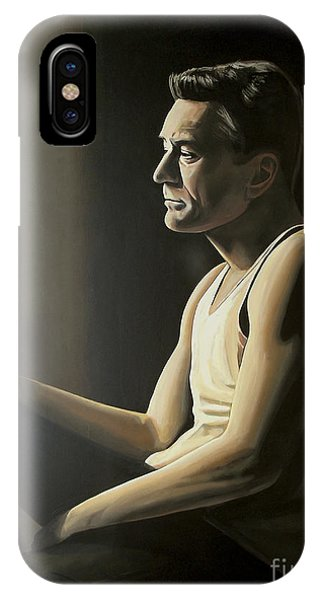 Bull Art iPhone Case - Robert De Niro by Paul Meijering