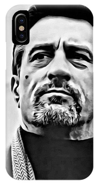 Robert De Niro iPhone Case - Robert De Niro Portrait by Florian Rodarte