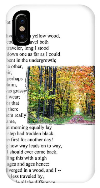 Robert Frost - The Road Not Taken IPhone Case