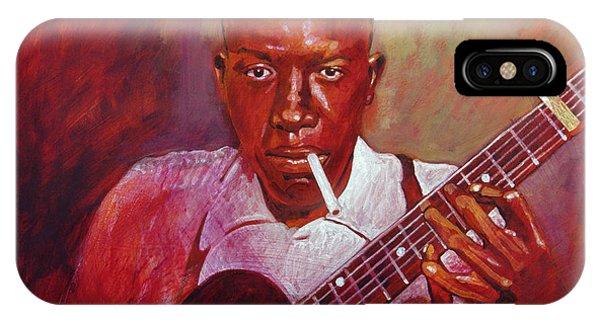 Guitar Legends iPhone Case - Robert Johnson Photo Booth Portrait by David Lloyd Glover