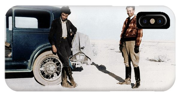 iPhone Case - Robert Oppenheimer And Ernest Lawrence by Copyright Status Unknown, Coloured By Science Photo Library