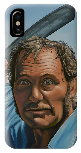 For iPhone Case - Robert Shaw In Jaws by Paul Meijering