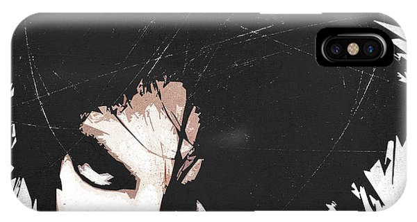 Robert Smith Music iPhone Case - Robert Smith by Filippo B