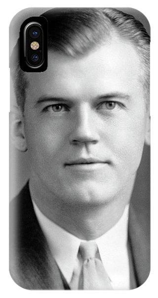 Head And Shoulders iPhone Case - Robert Van De Graaff by Aip Emilio Segre Visual Archives