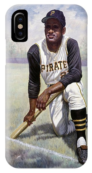 Bat iPhone Case - Roberto Clemente by Gregory Perillo