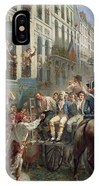 Revolutionary iPhone Case - Robespierre 1758-94 And Saint-just 1767-94 Leaving For The Guillotine, 28th July 1794, 1884 Oil by Alfred Mouillard