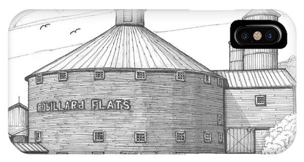 Robillard Flats Round Barn IPhone Case