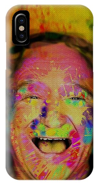 Robin Williams Comedian iPhone Case - Robin. A Colorful Talent by Oliver McParland