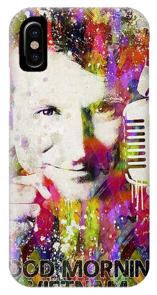 Robin Williams Comedian iPhone Case - Robin In Color by Aged Pixel