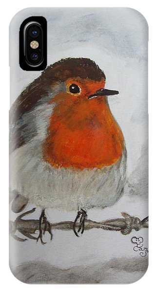 Robin On The Wire IPhone Case
