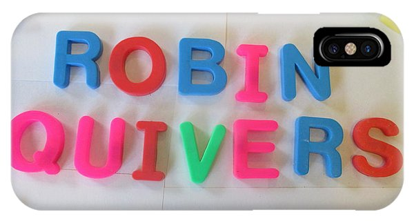 Howard Stern iPhone Case - Robin Quivers - Magnetic Letters by David Lovins