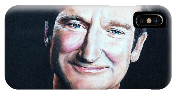 Robin Williams Comedian iPhone Case - Robin Williams by Anne Provost