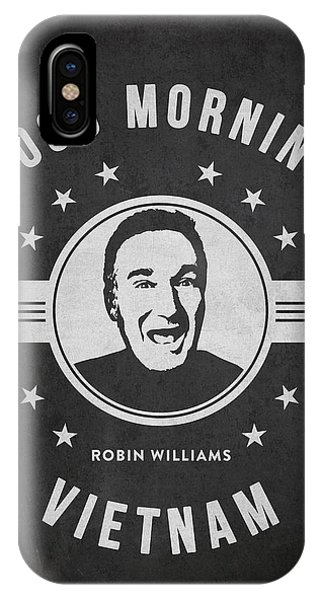 Robin Williams Comedian iPhone Case - Robin Williams - Dark by Aged Pixel