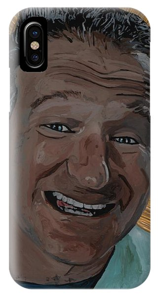 Robin Williams Comedian iPhone Case - Robin Williams by David Moriarty