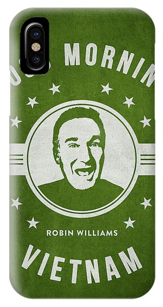 Robin Williams Comedian iPhone Case - Robin Williams - Green by Aged Pixel