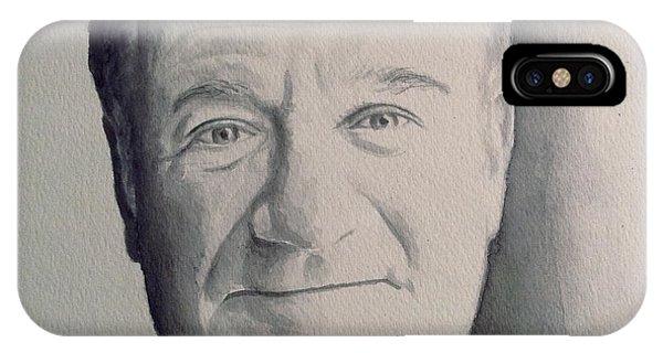 Robin Williams Comedian iPhone Case - Robin Williams Ink Wash by Katelynn Johnston