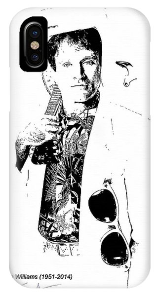 Robin Williams Comedian iPhone Case - Robin Williams by Maciek Froncisz