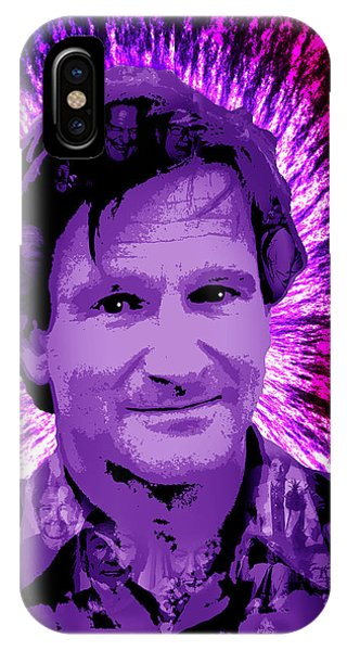 Robin Williams Comedian iPhone Case - Robin Williams by Michael Lee