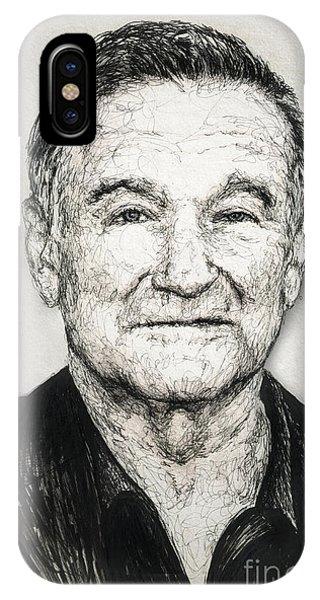Robin Williams Comedian iPhone Case - Robin Williams by Michael Volpicelli