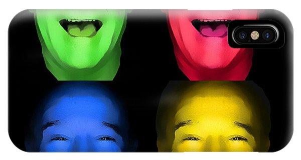 Robin Williams Comedian iPhone Case - Robin Williams Primary Colors One by Nicholas Romano