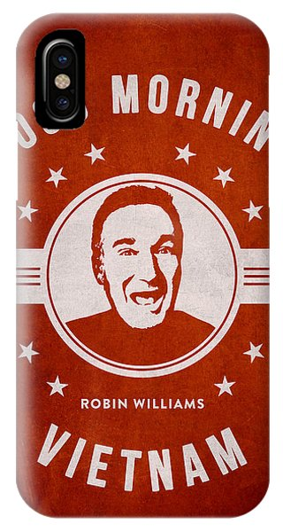 Robin Williams Comedian iPhone Case - Robin Williams - Red by Aged Pixel