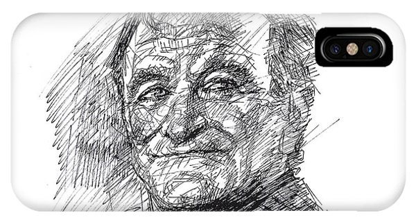 Robin Williams Comedian iPhone Case - Robin Williams by Ylli Haruni