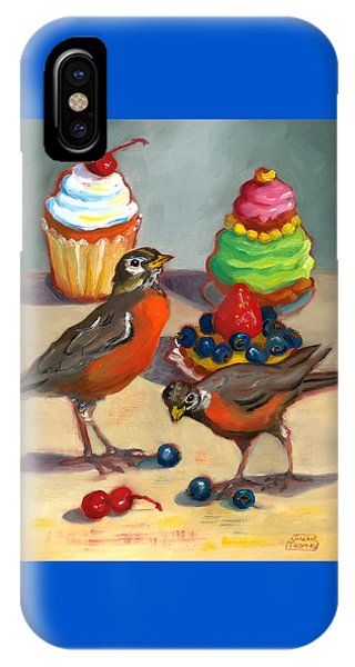 Robins And Desserts IPhone Case