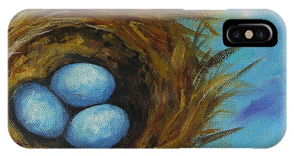Robin's Three Eggs Viii IPhone Case