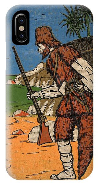 Shipwreck iPhone Case - Robinson Crusoe, Illustration From The by English School
