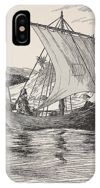 Shipwreck iPhone Case - Robinson Crusoe On His Boat by English School
