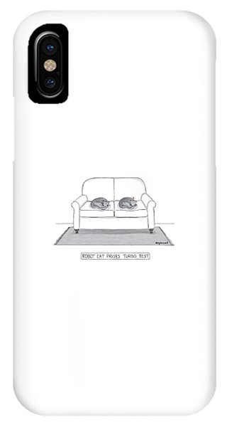 Robot Cat Passes Turing Test IPhone Case