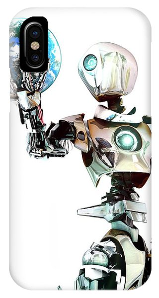Robot Lamenting Earth IPhone Case