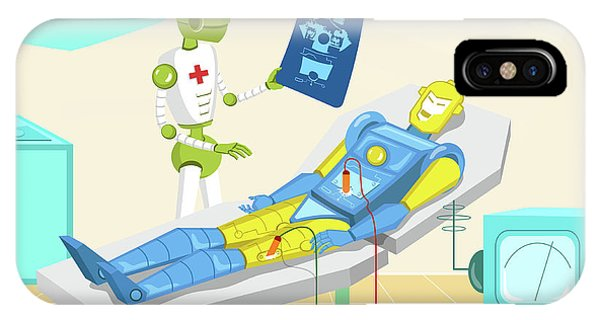 Robot Surgeon Examining Robot X-ray Phone Case by Fanatic Studio / Science Photo Library